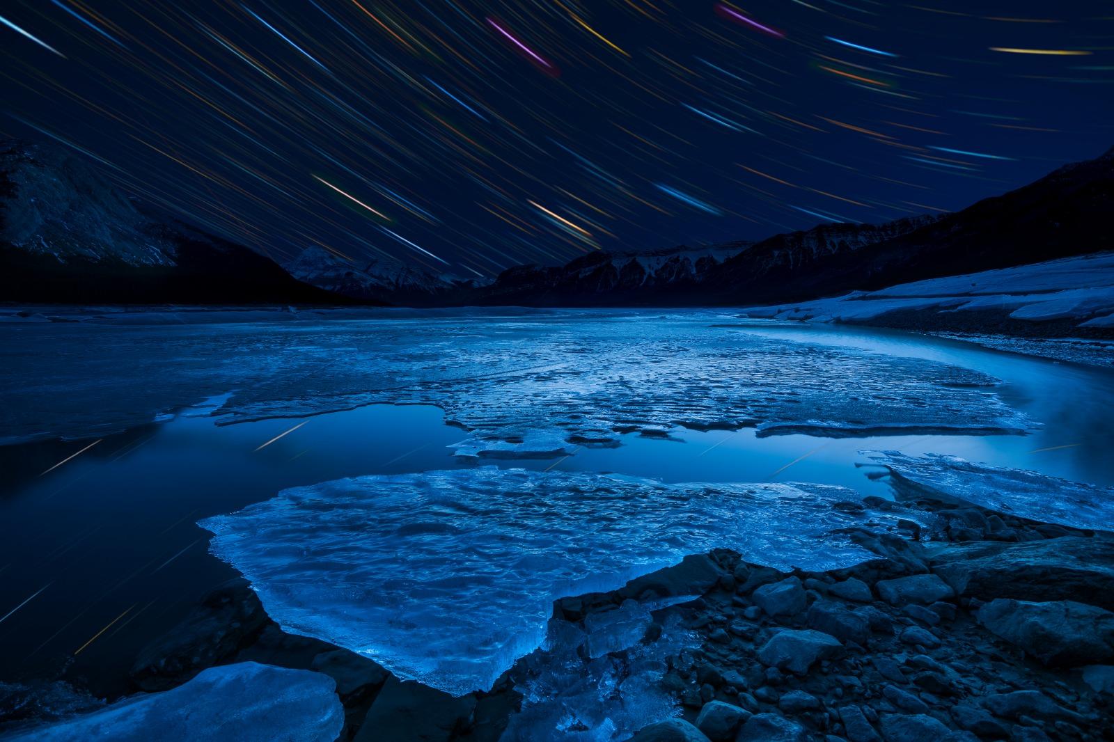 カナダの風景 夜のアブラハム湖カナダの風景 夜のアブラハム湖