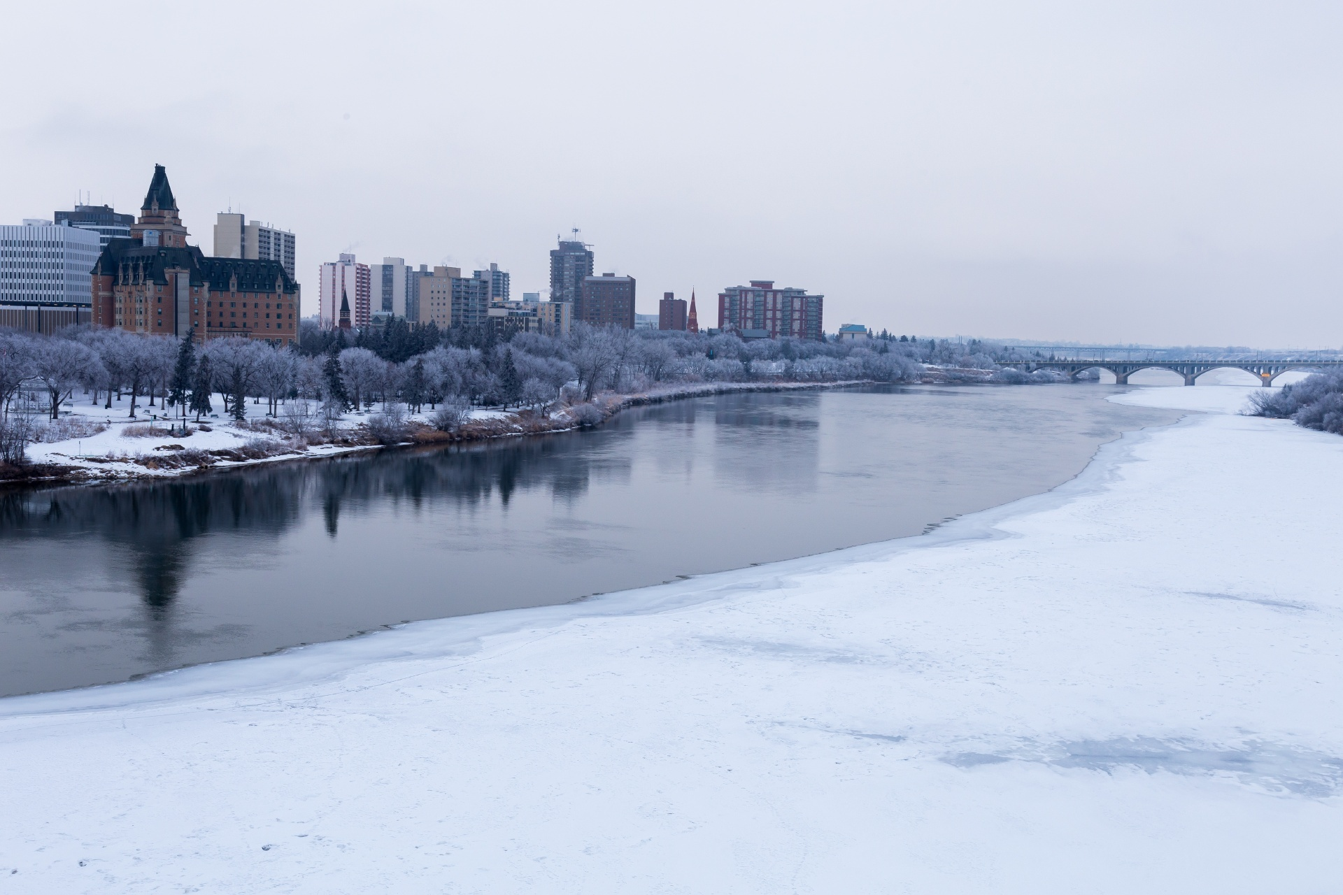 冬のサスカトゥーンの風景 カナダの風景