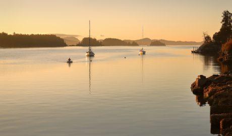 ブリティッシュコロンビア州 ガルフ諸島 ガンジスハーバーの風景 カナダの風景