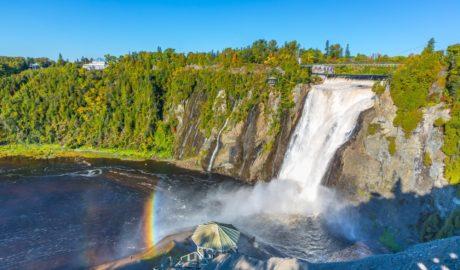モンモランシーの滝と虹